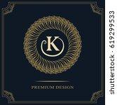 modern logo design. geometric... | Shutterstock .eps vector #619299533
