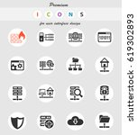 hosting provider web icons for... | Shutterstock .eps vector #619302893
