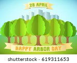 arbor day illustration with...   Shutterstock .eps vector #619311653
