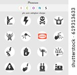 high voltage web icons for user ... | Shutterstock .eps vector #619313633