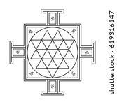 sri yantra   symbol of hindu... | Shutterstock .eps vector #619316147