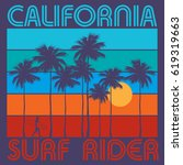 theme of surfing with text...   Shutterstock .eps vector #619319663