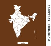 map of india | Shutterstock .eps vector #619320983