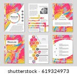 abstract vector layout... | Shutterstock .eps vector #619324973