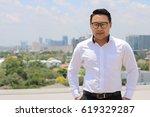 portrait asian young man  a...   Shutterstock . vector #619329287