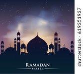 ramadan greetings background ... | Shutterstock .eps vector #619351937