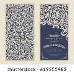 wedding invitation cards... | Shutterstock .eps vector #619355483