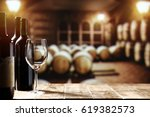 wine and free space for your... | Shutterstock . vector #619382573