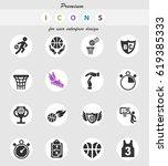basketball web icons for user... | Shutterstock .eps vector #619385333