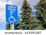Handicap Parking Sign With...
