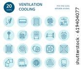 ventilation equipment line... | Shutterstock .eps vector #619404077