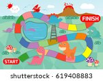 board game with dinosaurs...   Shutterstock .eps vector #619408883