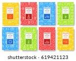coast guard thin line brochure... | Shutterstock .eps vector #619421123