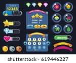 cartoon game user interface ...   Shutterstock .eps vector #619446227