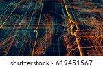 3d illustration. circuit board...   Shutterstock . vector #619451567