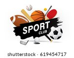 vector sport club with sports... | Shutterstock .eps vector #619454717
