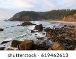Oregon Ocean Coast At Sunset....