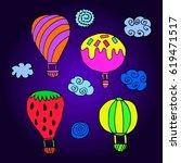 set of balloon. | Shutterstock .eps vector #619471517