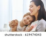 happy mother's day  child... | Shutterstock . vector #619474043