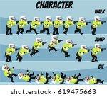 game kits adventure  character... | Shutterstock .eps vector #619475663