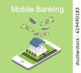 isometric mobile internet...   Shutterstock .eps vector #619490183