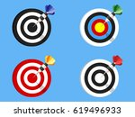 Targets With Darts Icons Set
