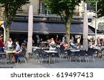 reims  france   july 25 2016  ... | Shutterstock . vector #619497413