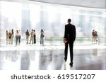 abstract image of people in the ... | Shutterstock . vector #619517207