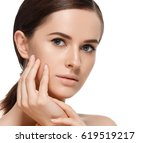 woman cosmetic closeup beauty... | Shutterstock . vector #619519217