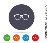 retro glasses sign icon.... | Shutterstock .eps vector #619519877