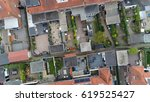 aerial top down view flying... | Shutterstock . vector #619525427