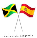 jamaican and spanish crossed... | Shutterstock .eps vector #619532513