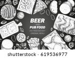 pub food frame vector... | Shutterstock .eps vector #619536977