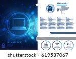 digital abstract technology... | Shutterstock . vector #619537067