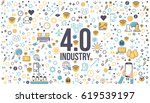industry 4.0 concept business... | Shutterstock .eps vector #619539197
