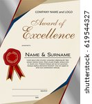 award of excellence with wax...   Shutterstock .eps vector #619544327