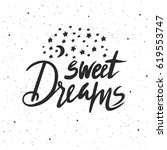 Sweet Dreams Lettering. Hand...