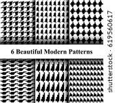 set of creative geometric... | Shutterstock .eps vector #619560617