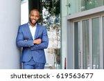 portrait of smiling businessman ... | Shutterstock . vector #619563677
