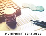 financial analyzing concept ... | Shutterstock . vector #619568513