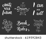 set of vector inspirational and ... | Shutterstock .eps vector #619592843