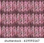 knitting hand made wool... | Shutterstock . vector #619593167