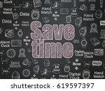 timeline concept  chalk pink... | Shutterstock . vector #619597397