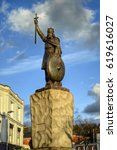 Small photo of King Alfred Statue, Winchester UK