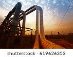 oil pipeline  the oil industry...   Shutterstock . vector #619626353
