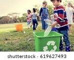 group of kids school volunteer...   Shutterstock . vector #619627493