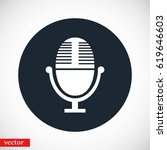 vector microphone icon  flat... | Shutterstock .eps vector #619646603