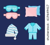 sleep pajamas icon vector... | Shutterstock .eps vector #619649417