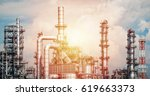 industrial zone the equipment... | Shutterstock . vector #619663373