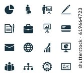 business icons set. collection... | Shutterstock .eps vector #619664723